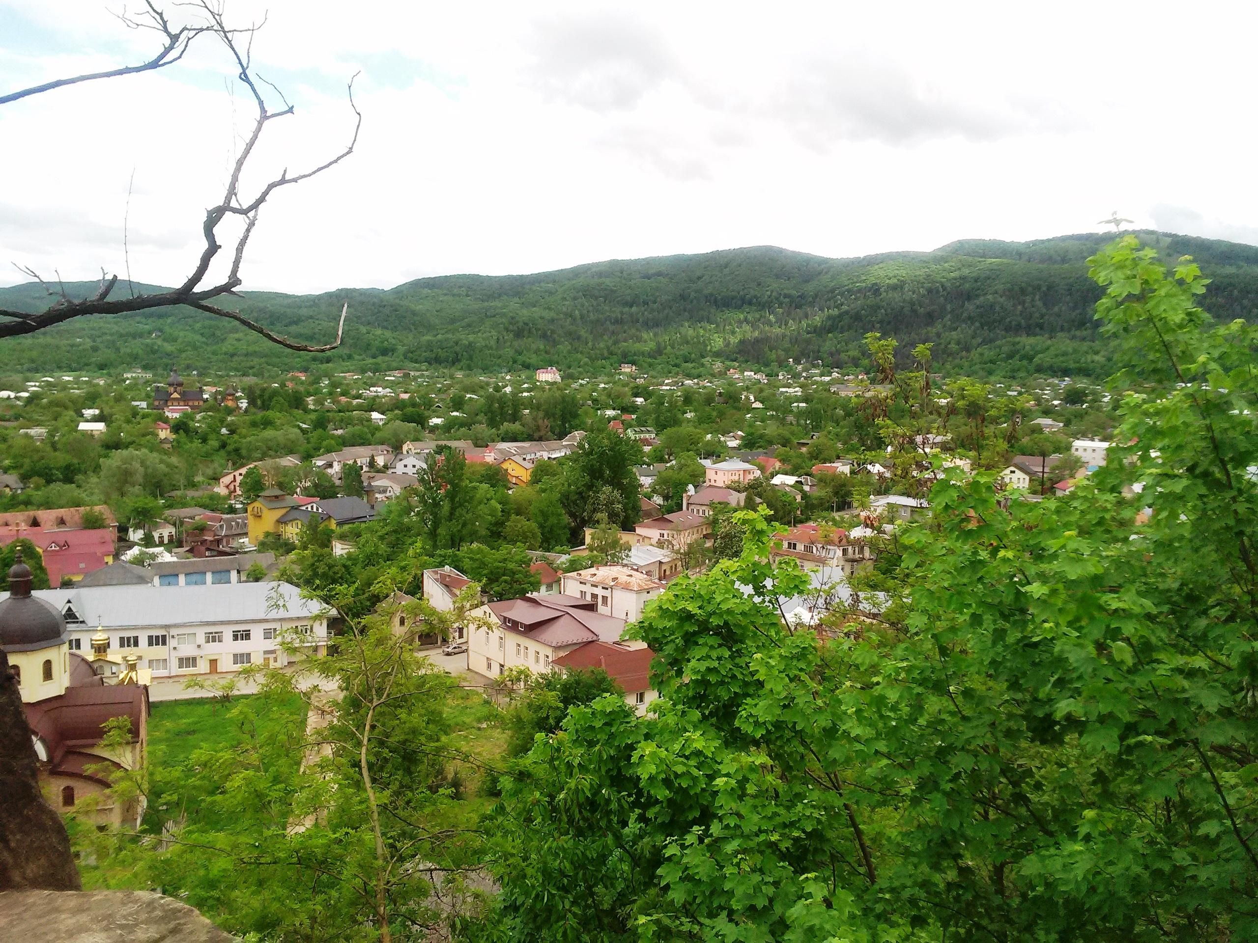 Вид з Замкової гори на Косів