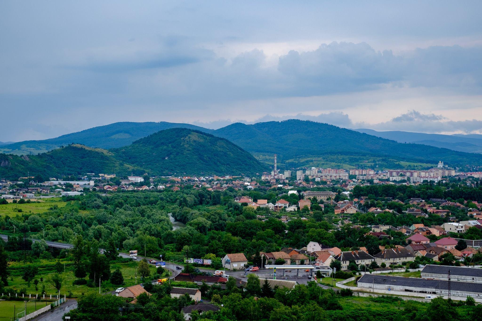 Вид з замку Паланок