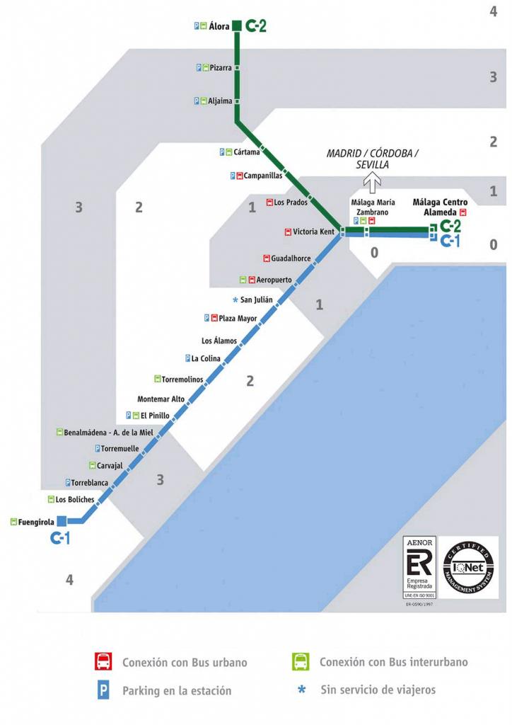 Карта поїздів Малага-Аеропорт
